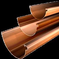 Copper Rain Gutters
